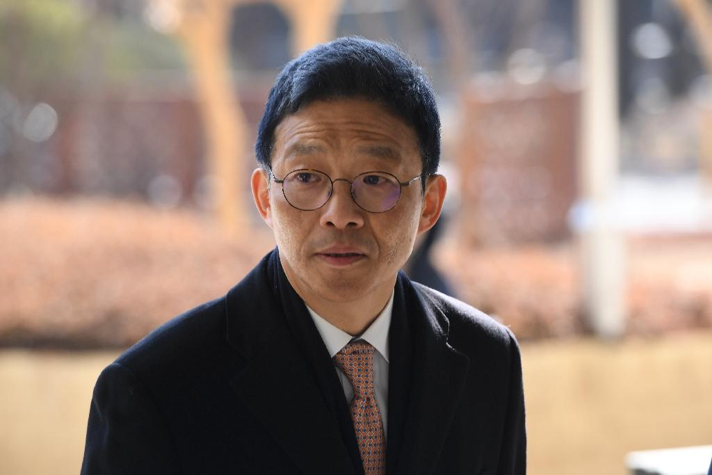 Former senior South Korean prosecutor Ahn Tae-geun has been convicted of abuse of power and sentenced to two years in prison (AFP Photo/Jung Yeon-je)
