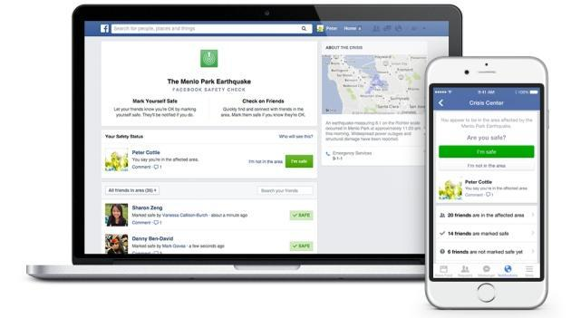Facebook 'Safety Check' lets friends know you're OK after a major disaster