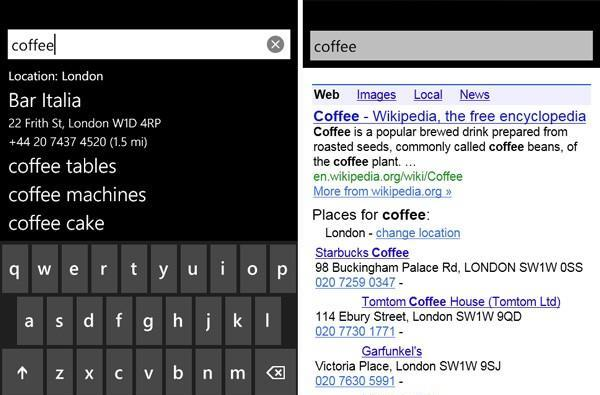 Google Search App bungs Bing on Windows Phone 7 Marketplace