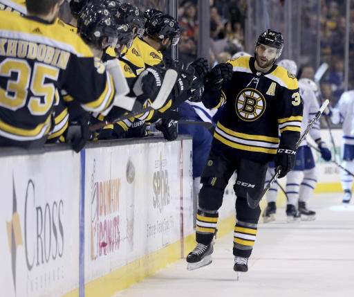Bruins' Patrice Bergeron Out With Fractured Right Foot