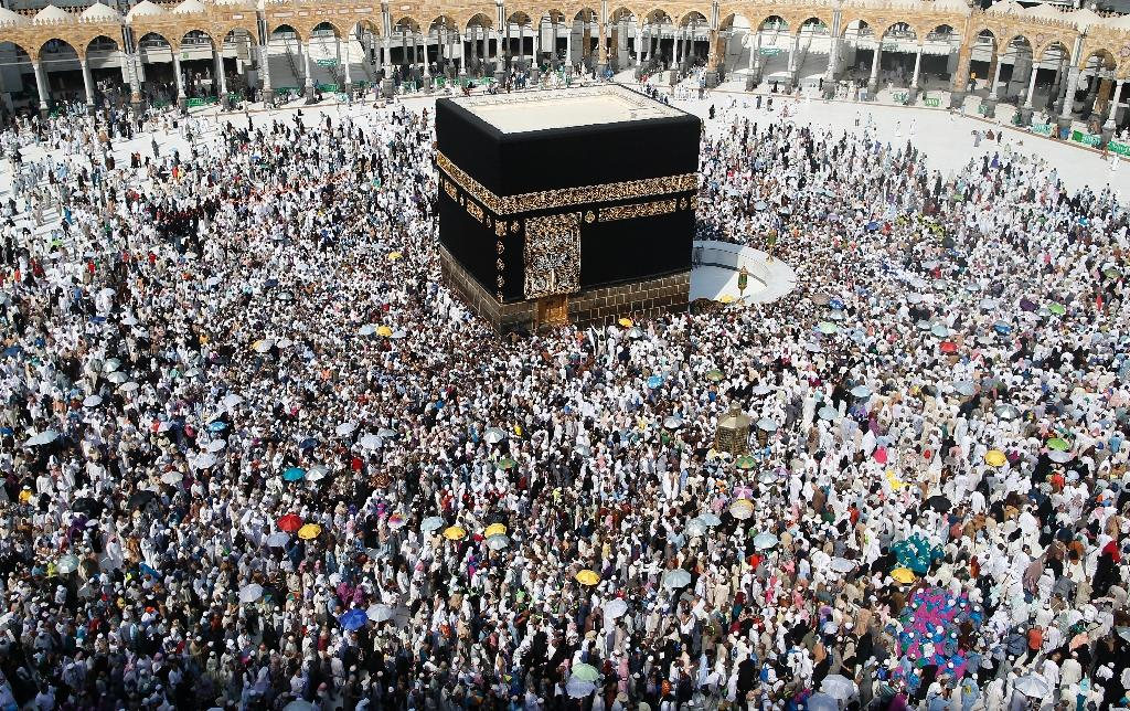 Muslim pilgrims from around the world circle the Kaaba at the Grand Mosque in the Saudi city of Mecca during last year's hajj pilgrimage on September 14, 2016