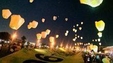 罷韓團體辦「六四撐香港」遊行 百顆天燈升空祈福