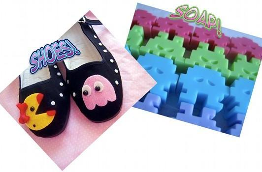 Ms. Pac-Man shoes, Space Invaders soap, not news