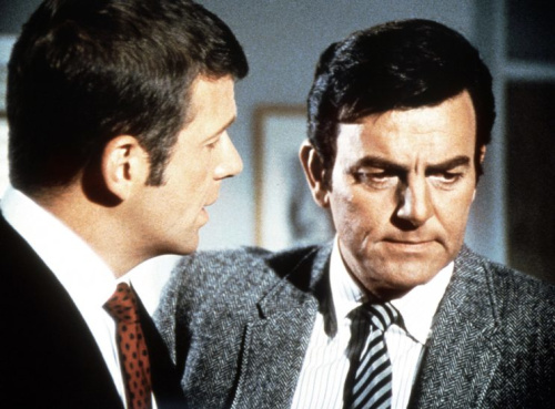 MANNIX, (from left): Robert Reed, Mike Connors, 1967-75. (Photo: Everett Collectio