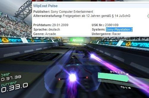 WipEout Pulse PS2 port revealed by German ratings board