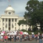 Crowds in Alabama, Missouri protested abortion measures