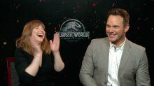 Hasta los hijos de Bryce Dallas Howard y Chris Pratt están enganchados al furor de los dinosaurios