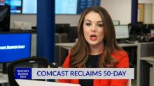 Comcast Reclaims 50-Day