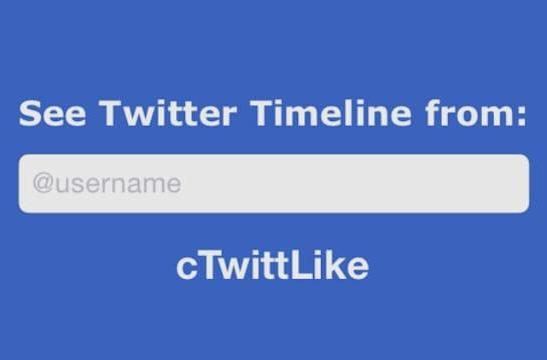 View someone else's own Twitter timeline with cTwittLike