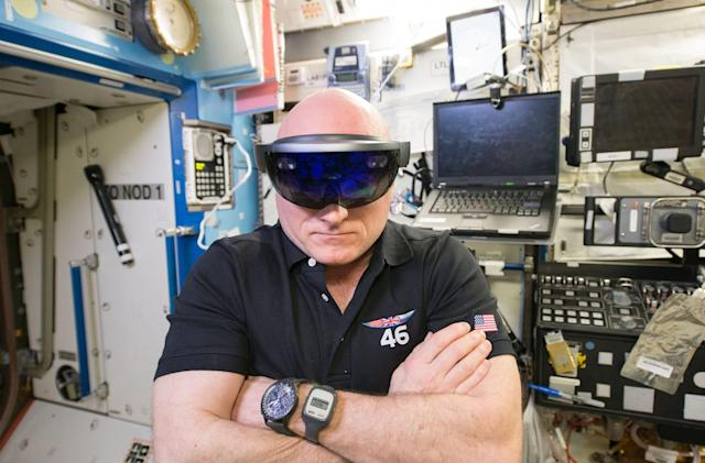 Watch astronauts make outer space Skype calls with HoloLens