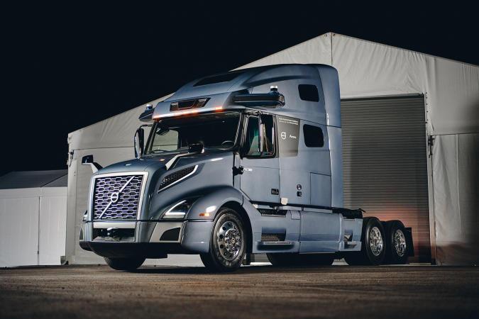 Volvo VNR autonomous long-haul truck prototype