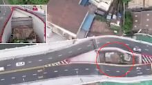 Motorway bridge built around house of woman who refused to move