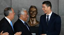 Bizarre Cristiano Ronaldo bust unveiled as Portugal star has airport named after him