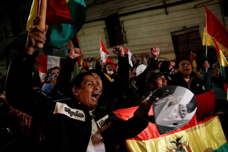 Protest against Bolivia's President Evo Morales in La Paz