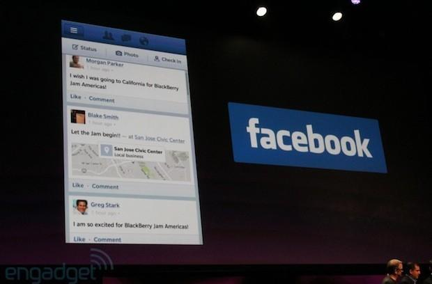 RIM shows off native Facebook and Foursquare apps for BlackBerry 10, confirms Twitter and LinkedIn for launch