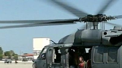 Air Force Chopper Searches For Missing Kayaker