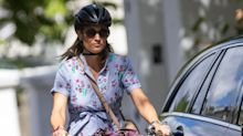 Pippa Middleton Riding Her Bike in an Anthropologie Shirt Dress Is a Summer Mood