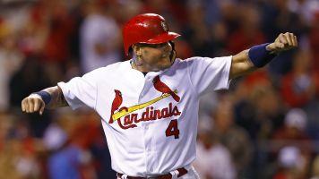 Molina celebrates HR ... before batter swings