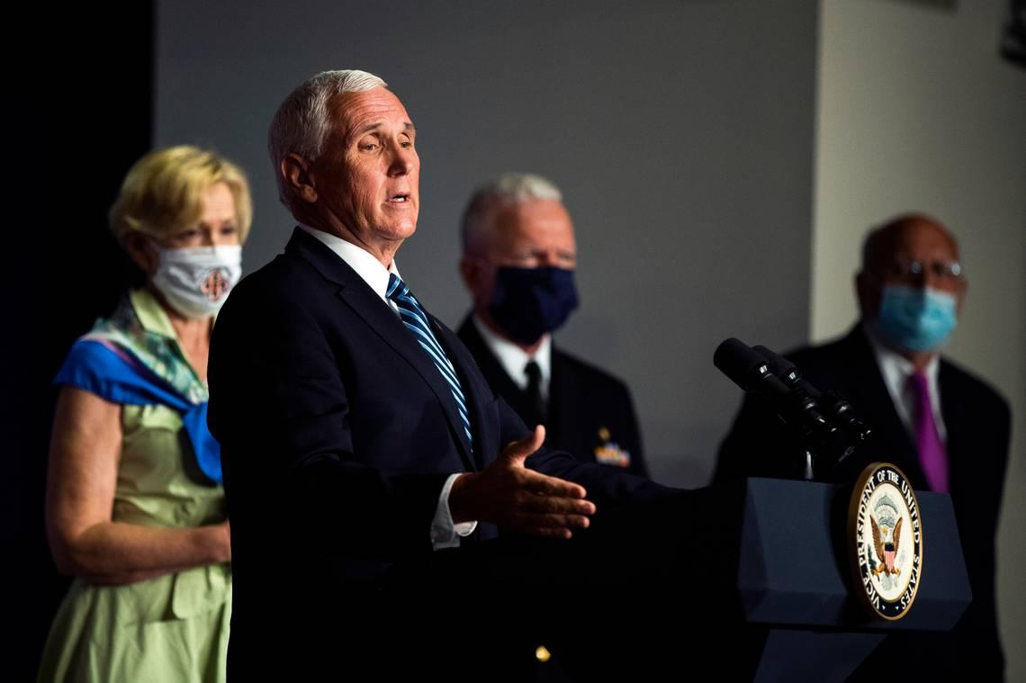 Pence says 'early indications' present COVID-19 prevention measures working in Florida