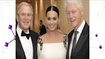 Katy Perry Snaps Pic With Two Former Presidents