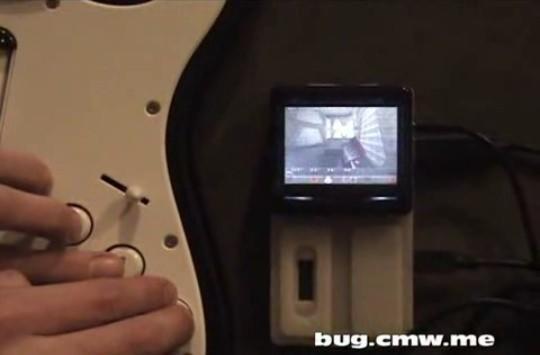 Quake gets ported to the BUG, controlled by Rock Band guitar