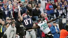 Rob Gronkowski knocked out of AFC title game with concussion after helmet-to-helmet hit
