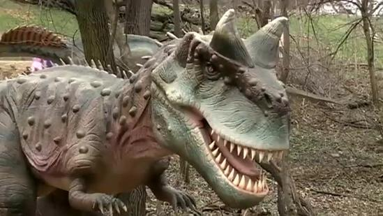 Dinosaurs come alive at zoo's newest exhibit