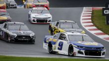 Chase Elliott gets 4th straight road course win on Charlotte Roval win as Kyle Busch gets knocked out of playoffs