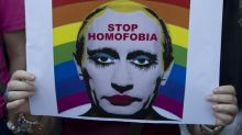 Russia bans 'gay clown' picture of Putin
