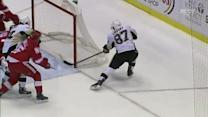 Crosby follows his own shot for the goal