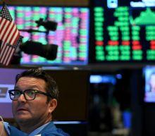 US STOCKS-Wall Street gains on hopes of coronavirus slowdown
