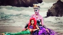 ¡Qué ternura! Una madre cumple el sueño de cualquier niña al transformar a su hija en las Princesas Disney
