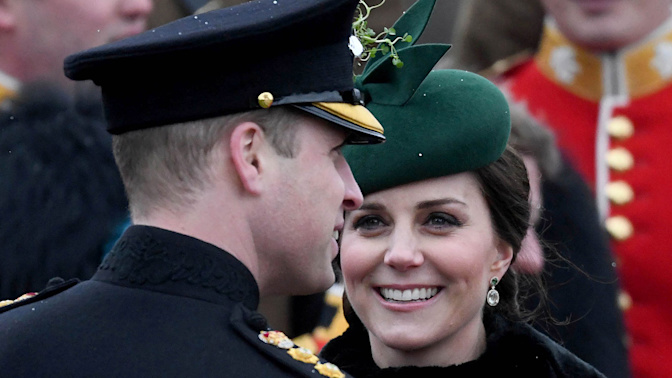 Will and Kate share a rare moment of PDA