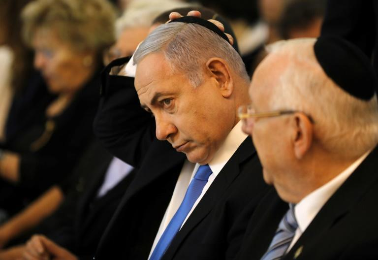 Netanyahu has not given up in his battle to retain the Israeli premiership, which he has held for a record total of more than 13 years (AFP Photo/Menahem KAHANA)