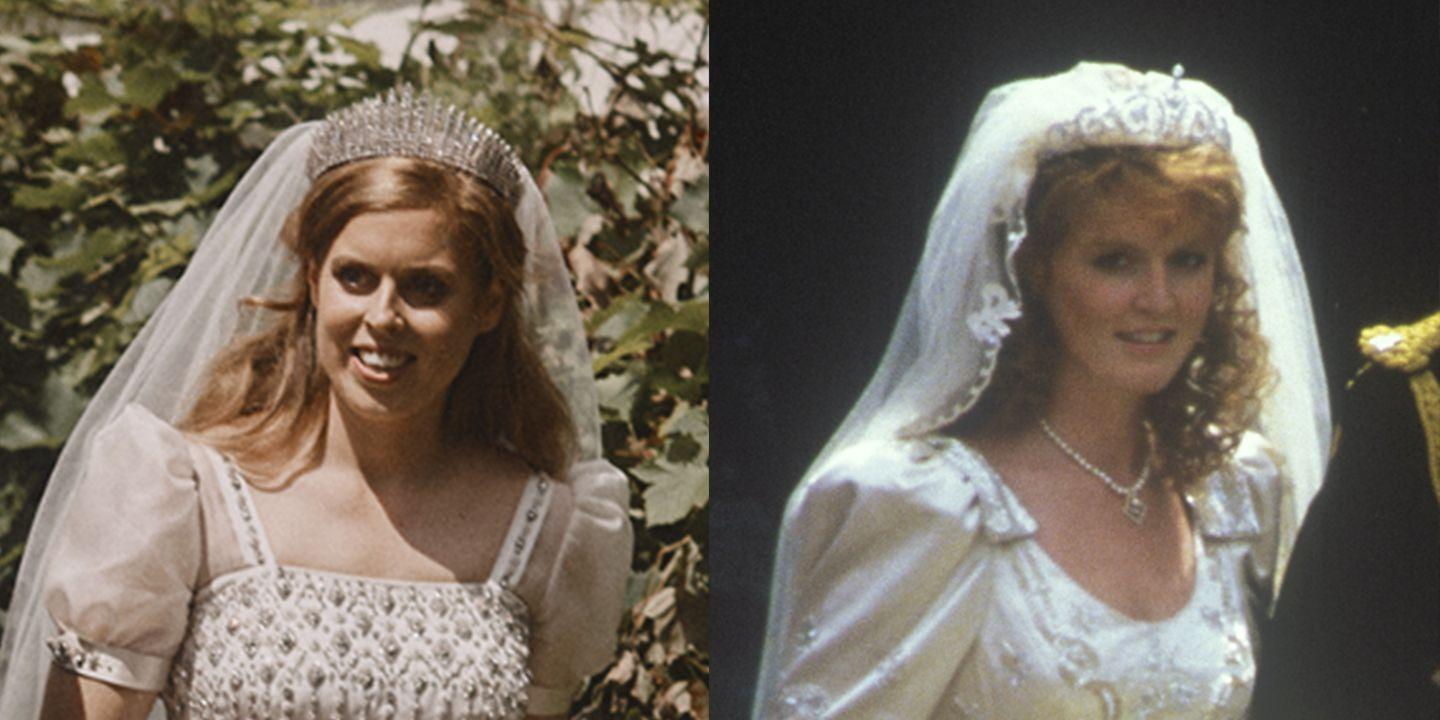 Princess Beatrice S Wedding Dress Pays Tribute To Her Mom Sarah Ferguson S Bridal Look