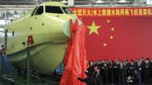 China-built amphibious aircraft takes maiden flight - Xinhua