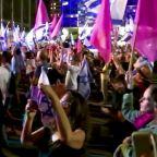 Hundreds of Israelis celebrate Netanyahu's unseating