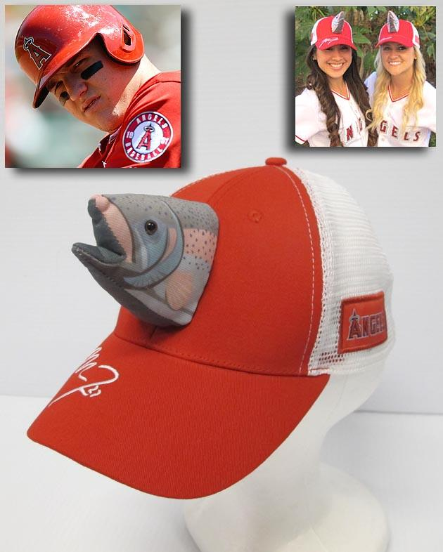 Mike Trout fish hats! Los Angeles Angels giving caps away June 18 7b5b86e402d