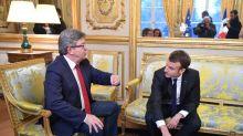 """Emmanuel Macron """"fatigué"""" et """"au bout de sa vie"""" : c'est Jean-Luc Mélenchon qui le dit"""