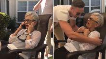 Man pranks grandmother with heartwarming surprise visit