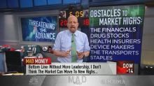 Cramer issues a warning to the bulls: Too many groups are lagging behind the market leaders