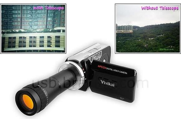 Brando has the $100, VGA-res, interchangeble lens camcorder you're looking for