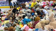 Watch: Fans make it rain teddy bears in Hershey