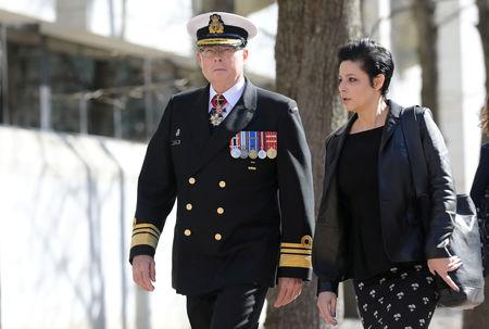 Vice-Admiral Mark Norman arrives at the courthouse in Ottawa, Ontario, Canada, May 8, 2019. REUTERS/Chris Wattie