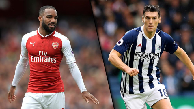 Lacazette brace sees off West Brom as Barry sets Premier League record