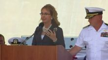 Warship USS Gabrielle Giffords commissioned in Texas