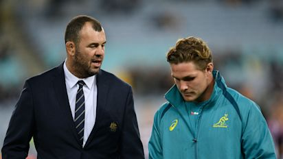 Rugby union: Cheika confident Wallabies will be better after first-half horror show