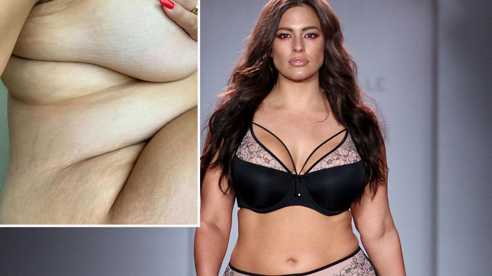 Ashley Graham's nude pregnancy snap praised
