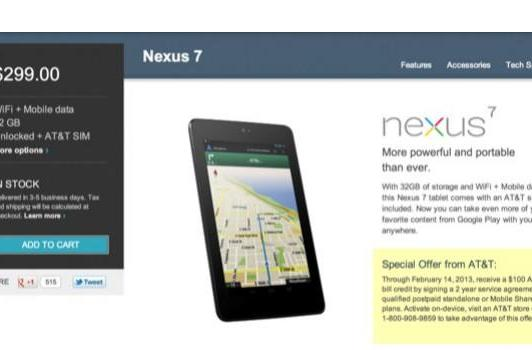 AT&T offering $100 credit to Nexus 7 owners, two-year contract required (update: applies to all tablets!)