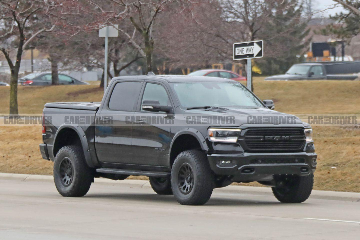 """<p>The <a href=""""https://www.caranddriver.com/news/a15345674/rammer-jammer-desert-hammer-ram-unveils-rebel-trx-concept/"""" rel=""""nofollow noopener"""" target=""""_blank"""" data-ylk=""""slk:Ram Rebel TRX concept"""" class=""""link rapid-noclick-resp"""">Ram Rebel TRX concept</a> first met the public at the 2016 State Fair of Texas, surprising all in attendance. Ford had been stealing hearts and headlines with its F-150 Raptor production off-roader for few years, and while most inside the industry figured Ram must be working on something, the Ram Rebel TRX concept made it from the design studio to the stage with uncharacteristic secrecy. </p>"""